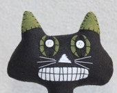 Black Cat Holiday Decor, Black Cat Home Decor, Wool Cat, Black Wool Felt Cat