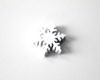 Frozen Birthday Party Snowflake Confetti - White Snowflake Die Cuts Table Decor - Set of 40
