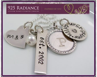 Personalized Family Jewelry-Hand stamped necklace- AMAZING FAMILY- Mommy Necklace