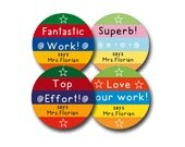 PANTONES Personalized stickers for Teachers