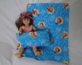 18  inch Doll Clothes American Girl, LITTLE MERMAID BLANKET and Pillow