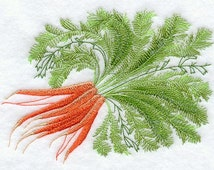 Delicate Carrots Embroidered Flour Sack Hand/Dish Towel