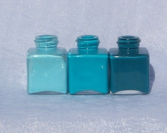 Teal Ombre Mini Vases