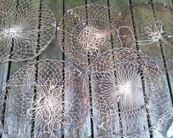 Vintage fish nets, vintage crab nets