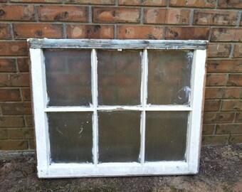Old white window, salvage window