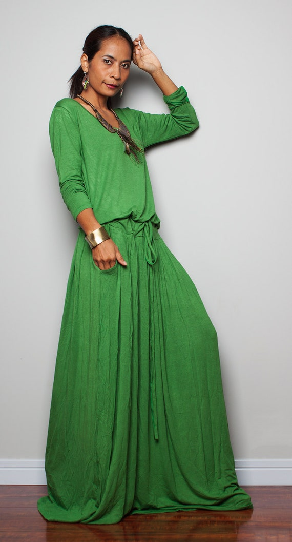 green maxi dress plus size soft green long sleeve dress
