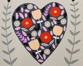 Custom Floral Heart Listing for Amy