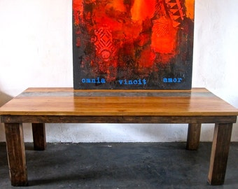 Beautiful Reclaimed Wood Dining Table.Made in L o s  A n g e l e s.