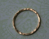 TWO - Gold Filled Link Connectors, Infinity Eternity Rings, Hammered, 19 Gauge, 14mm