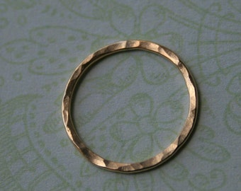 Gold Filled Link Connectors, Qty 2 Infinity Eternity Rings, Hammered, 19 Gauge, 14mm
