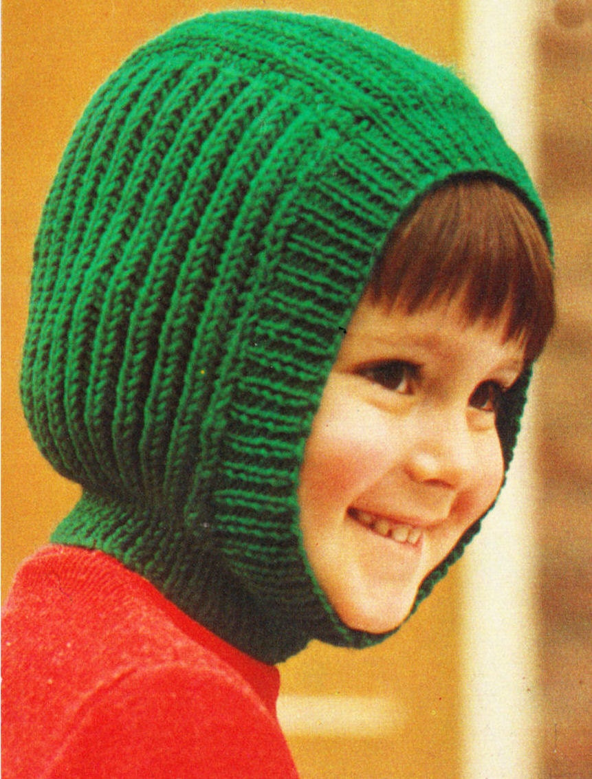 Balaclava Knitting Pattern Easy : Instant Download PDF Quick Easy Beginners Knitting Pattern to make Childrens ...