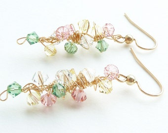 Pastel Sparkly Earrings 14K Gold Filled