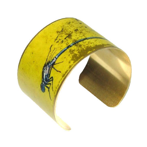 Cuff Bracelet- Insect Jewellery- Bangle- Dragonfly Jewellery- Colourful Jewellery- Bug Jewellery- Gift for women