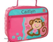 Personalized Lunch Box Bag Stephen Joseph Silly  Monkey Girl