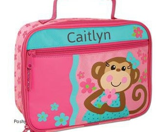 Personalized Lunch Box Bag Stephen Joseph Silly  Monkey Girl