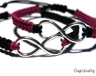 Couples Bracelets, Infinity Bracelets, His Hers Bracelets, Friendship Bracelet, Matching Bracelets, Anniversary Bracelet, Long Distance Gift