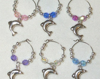 Wine Glass Charms - Dolphins