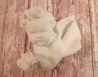 White cherub wall decor cherub shabby vintage cherub home decor 3D wall cherub putti Princess room romantic home decor
