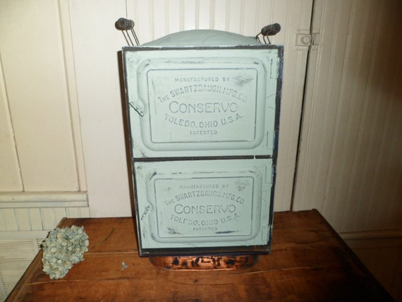 Antique Painted Tin Copper Stove Canning Cooker Conservo