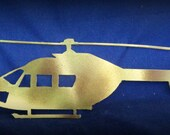 Helicopter Metal Art