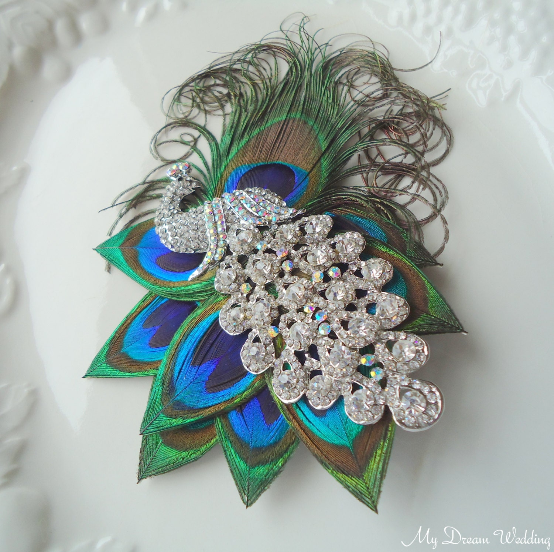 Peacock Headpiece For Wedding