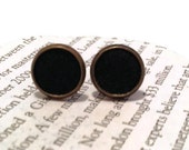 Black Leather Stud Earrings, Leather Earrings, Earstuds, Ear Stud Earring, Leather Studs, Black Leather Circle Earrings, Leather Accessories