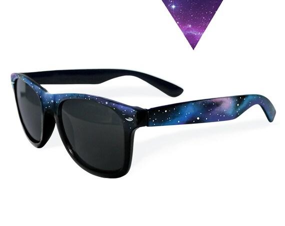 Dark Galaxy festival personalized women sunglasses gift for boyfriend girlfriend fashion trend wedding sunglasses Space handpainted blue