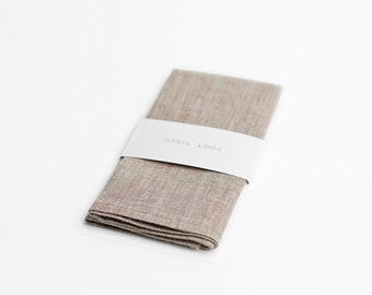 Chambray linen pocket square, MADE TO ORDER