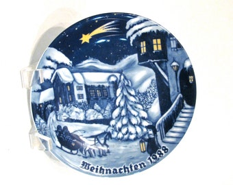 Christmas Plate 1988 from Bavaria