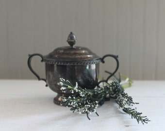 Sliverplate Sugar Bowl With Lid