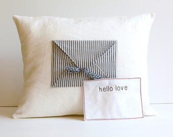 Engagement and Wedding, Personalized Pillow Cover, Wedding Pillow, Kids Decor, Home Decor, Love Letter, Couples Gift, Linen Pillow Cover