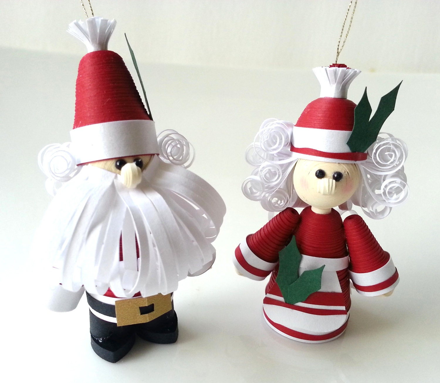Mr and mrs claus ornaments -  Zoom