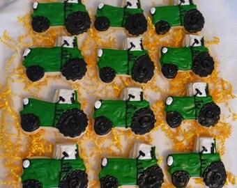 1 Dozen Tractor Sugar Cookies