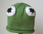 Baby Frog Hat, Infant toddler sizes, Gift Set, Halloween costume