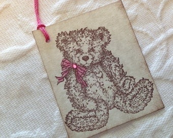 Teddy Bear Baby Tag - Baby Shower Gift Tag - Teddy Bear Favor Tags