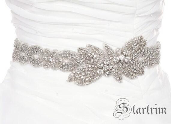 SALE JOYANN Crystal wedding bridal beaded sash , belt