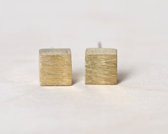 Minimalist Earrings Contemporary Brass Studs