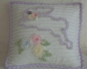 Bunny Cotton Chenille Pillow