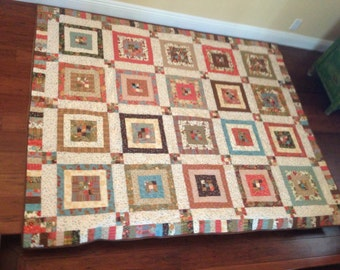 Handmade Quilt using the Sonnet fabric line from Moda