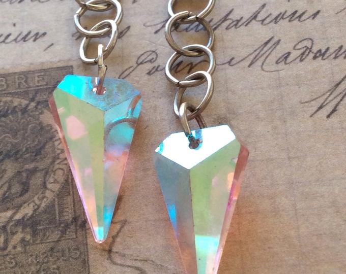 Jewelry Earrings Dangle Crystal Vintage Style Authentic Swarovski Crystal Rosaline Arrow Crystals in AB Women's Earrings