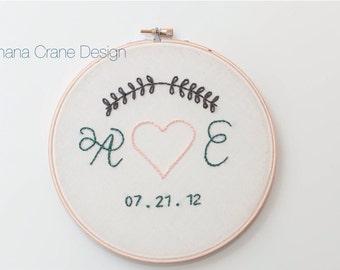 True Love . Custom Embroidery Hoop