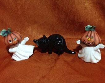 Pumpkin Ghost, Cat Set