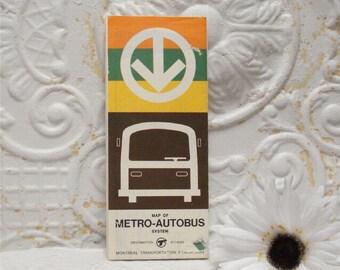 """9"""" Expo 67 Metro Map Autobus"""