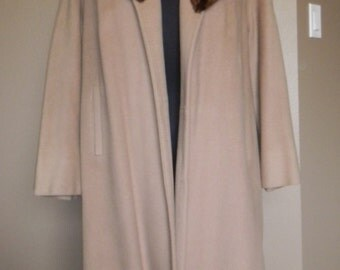 Vintage wool coat with Mink collar PRECIOSA COUTURE AMERICANA