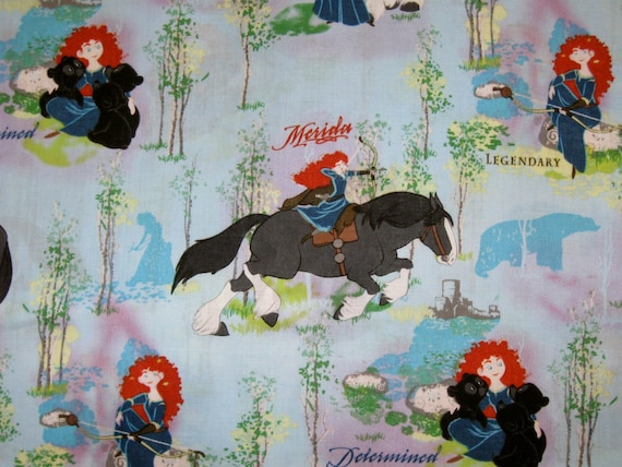 Merida Fabric By The Yard Licensed Disney Fabric From The