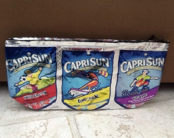 Upcycled bag Capri sun drink pouch Pencil Case or coupon holder   K