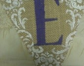 Custom Burlap Banner- Pick your color- Pick your Design- whatever you want it to say-