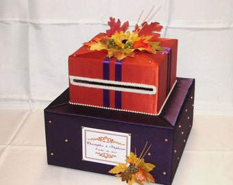Elegant Custom Made Weeding Card Box-FALL theme