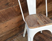 Reserved for Kristal Custom Reclaimed Wood Seat, Retro Fit Kit for Tolix Stools & Chairs
