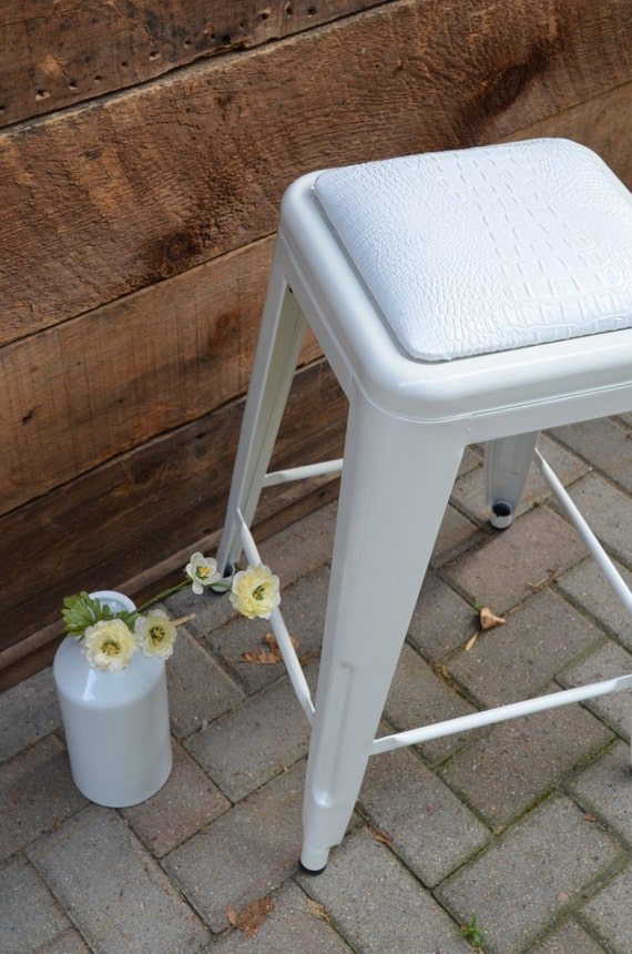 Like this item? - Custom Upholstered Tolix Style Stool Cushion: In The Fabric